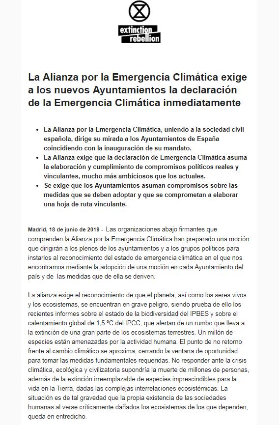 2019-06-18 10_20_10-La Alianza por la Emergencia Climática exige a los nuevos Ayuntamientos la decla